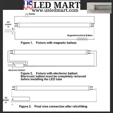 T8 Led Wiring Diagram One End by 4ft 18w T8 Led Light G13 6500k Fluorescent Replace