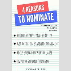 4 Reasons To Nominate Someone For The Aste Board Aste