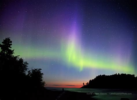 northern lights in michigan northern lights lake superior photo
