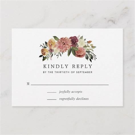 Rustic Bloom RSVP Card Zazzle com Wedding response