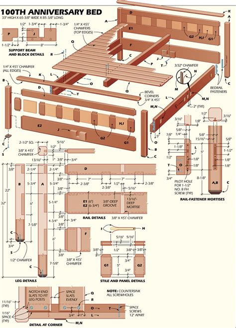 pdf plans free woodworking plans bed frame diy