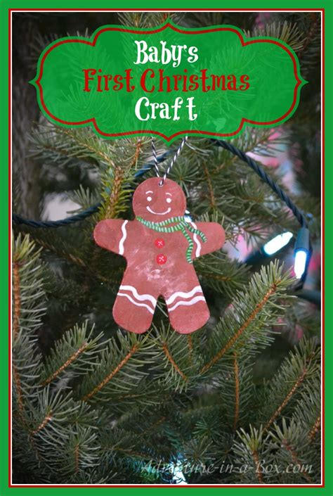 babys first christmas decoration baby s craft the gingerbread ornament