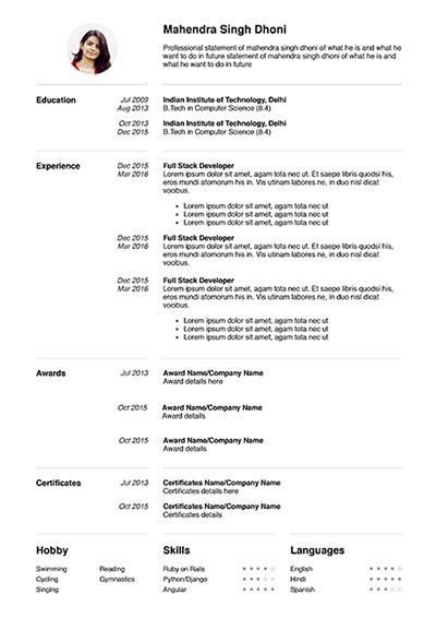 My Resume by 6 Resume Template To Edit And My Resume Format