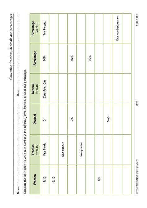 ks2 fractions including decimals teachit primary