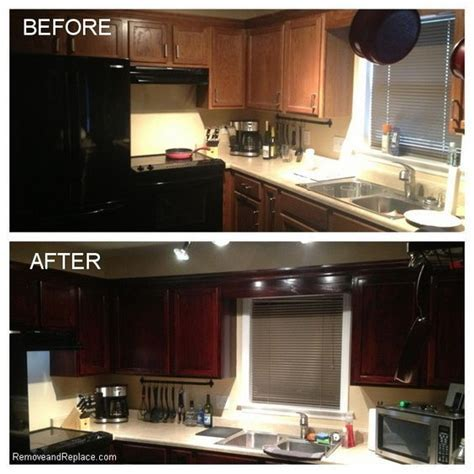 Restaining Oak Cabinets Grey by 17 Best Ideas About Restaining Kitchen Cabinets On