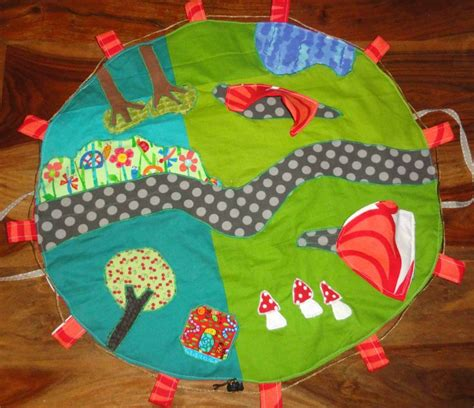 tapis de jeu en tissu foldingo fold and go fabric play