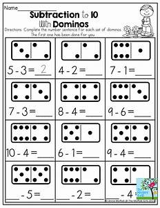 Subtraction to 10 with Dominos- Dominos provide a tangible ...