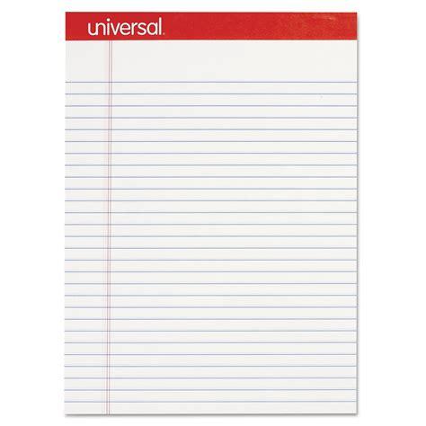 unv universal perforated edge writing pad zuma