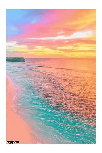 Sunset Colorful Beaches Mirage Aesthetic Nature Ocean
