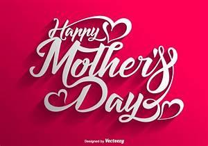 Vector feliz día de la madre de letras de fondo ...