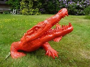 Statue De Jardin En Résine : statue crocodile laqu jardinchic ~ Dailycaller-alerts.com Idées de Décoration