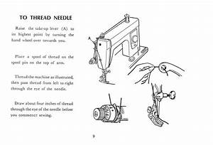 Janome 132 Sewing Machine Threading Guide