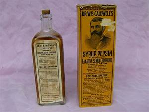 Dr  W  B  Caldwell U0026 39 S Syrup Pepsin Bottle And Box
