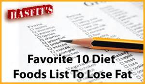 Diet Food List for Weight Loss