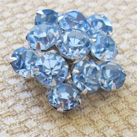 Sparkling Vintage Coro Ice Blue Rhinestone Pin/Brooch from