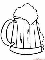 Coloring Beer Cerveza Colorear Para Dibujo Jarro Sheet Gratis Sheets Title Coloringpagesfree sketch template