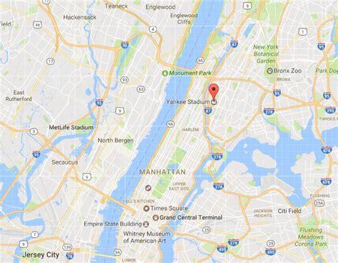 yankee stadium  map   york city