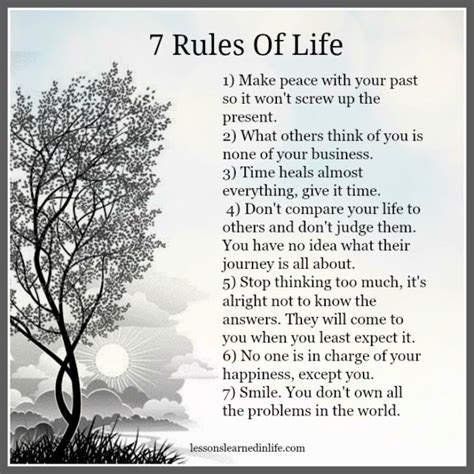 Lessons Learned In Life7 Rules Of Life  Lessons Learned