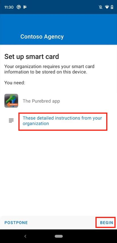 purebred intune microsoft disa android app device open screen docs tap certificates launch