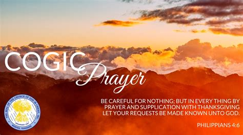 cogic prayer wall church  god  christ