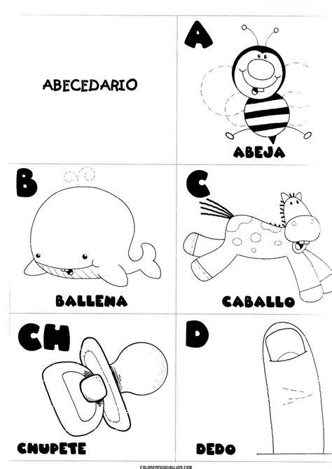 letras a b c ch d para colorear actividades pedagogicas abecedario infantil abecedario
