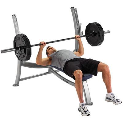 Bench Press Own Weight by Cybex Free Weights Olympic Bench Press