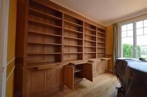 Bibliotheque Bois Clair : biblioth que meuble en ch ne clair et livraison le v sinet atelier de l 39 b niste c cognard ~ Teatrodelosmanantiales.com Idées de Décoration