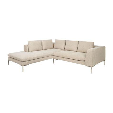 canapé 2 places avec méridienne montino canapé 2 places en tissu ancio nature avec