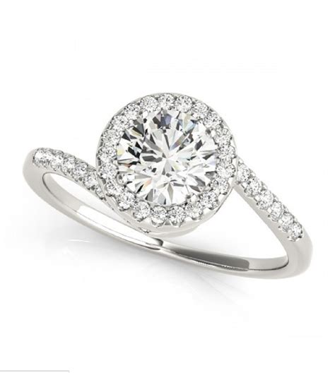0 76 carat spiral pave engagement ring classic house