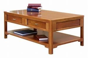 Table Basse Salon But : table basse de salon 2 tiroirs double face lamaisonplus ~ Teatrodelosmanantiales.com Idées de Décoration