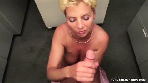 Mature Blonde Gives Nice Handjob Eporner