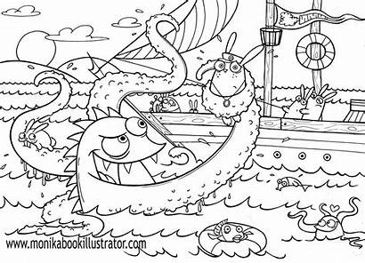 Coloring Sea Pages
