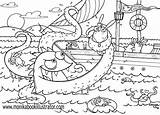 Coloring Sea Pages sketch template