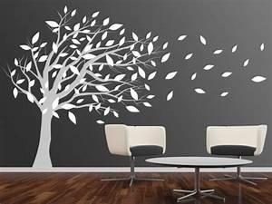 Baum An Wand Malen : wandtattoo baum im wind einrichtung pinterest wandtattoo baum wandtattoo und baum ~ Frokenaadalensverden.com Haus und Dekorationen