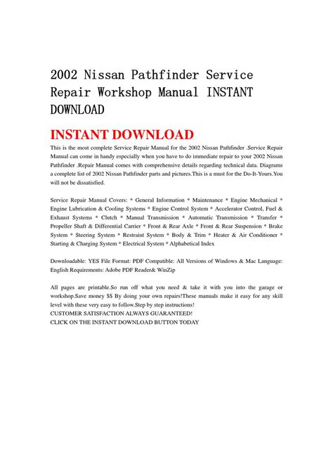 where to buy car manuals 2002 nissan pathfinder electronic valve timing 2002 nissan pathfinder service repair workshop manual instant download by nihaolin nihaolin issuu