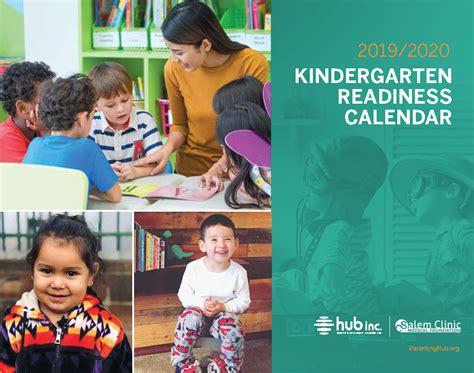 kindergarten readiness calendar marion polk early