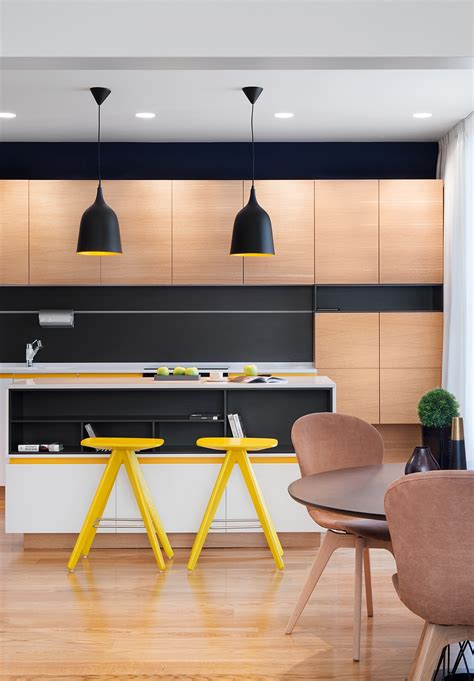 A Mid Century Inspired Apartment With Modern Geometric Accents a mid century inspired apartment with modern geometric accents