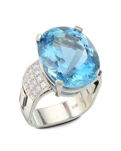 aquamarine ring  adjustable shank turgeon raine