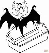Dracula Coffin Vampire Coloring Count Pages Clip Drawing Outlined Cartoon Happy Eyes Halloween Printable Vector Sad Von Drawings Gograph Skull sketch template