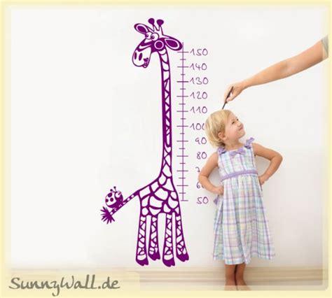Wandtattoo Kinderzimmer Marienkäfer by Wandtattoo Wandaufkleber Messlatte Giraffe Marienk 228 Fer