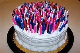 Image result for photo of birthday cake with lots of candles