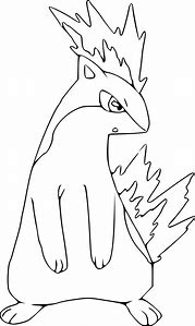 Pokemon Quilava Coloring Pages