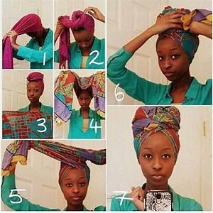 Tete A Coiffer Afro : comment nouer attacher un foulard africain coiffure faire pinterest cheveux coiffure ~ Melissatoandfro.com Idées de Décoration