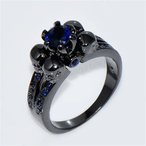 Gothic Skull Blue Sapphire Engagement Ring Womenmen's. 10 000 Wedding Rings. Station Necklace. Name Lockets. Precious Stone Emerald. Urn Pendant. Lat Long Bracelet. Trio Bands. Baby Rings