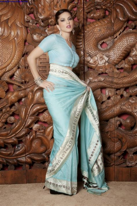 Sunny Leone In Saree Bollyrooms Actress Hot Photos
