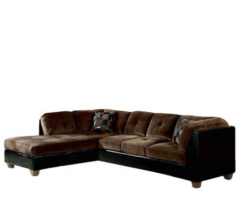 leather and microfiber sectional deltona microfiber leather bycast sectional sofa qvc