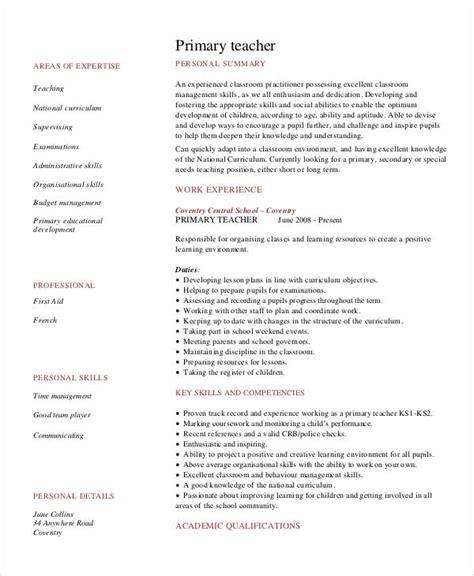resume for primary teachers doc resume primary annecarolynbird