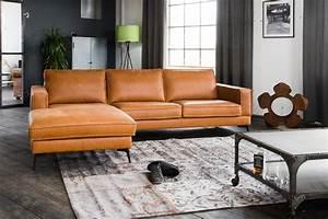 Couch Leder Cognac : kawola sofa bloom leder retro cognac ~ Frokenaadalensverden.com Haus und Dekorationen