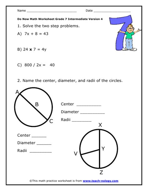 Do Now Math Grade 7 Intermediate Version 4