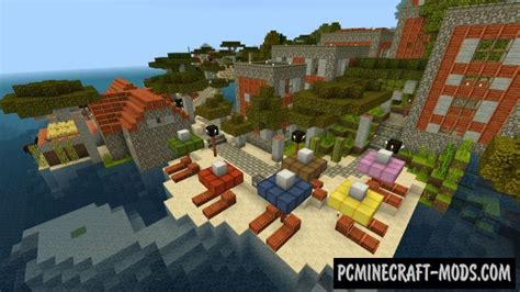 modern village  island minecraft pe bedrock map
